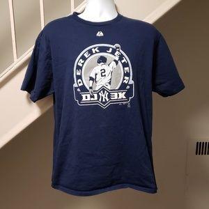 Yankees Derek Jeter 3000 Hits Large T-Shirt